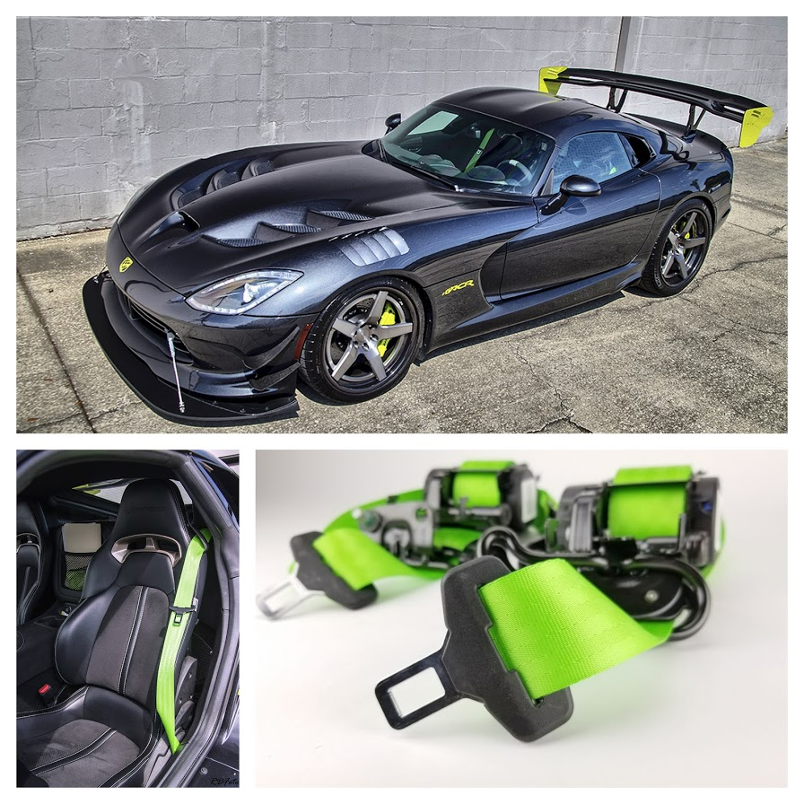 Dodge Viper with Neon Green Seat Belts