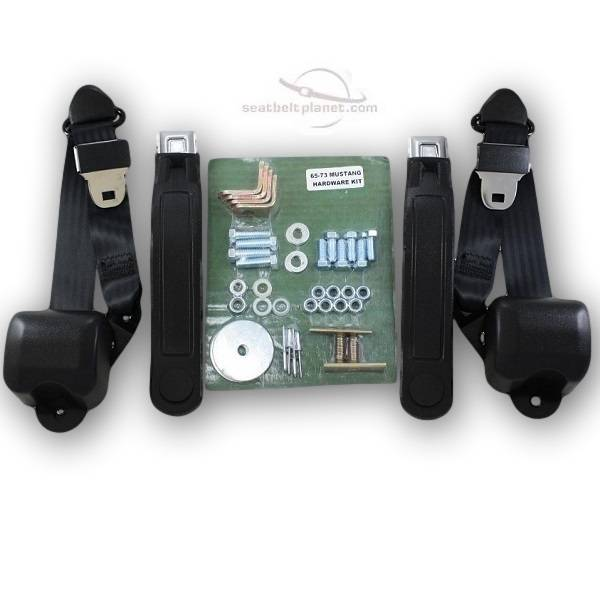 1964-1967 Ford Mustang Replacement Seat Belt Conversion Kit