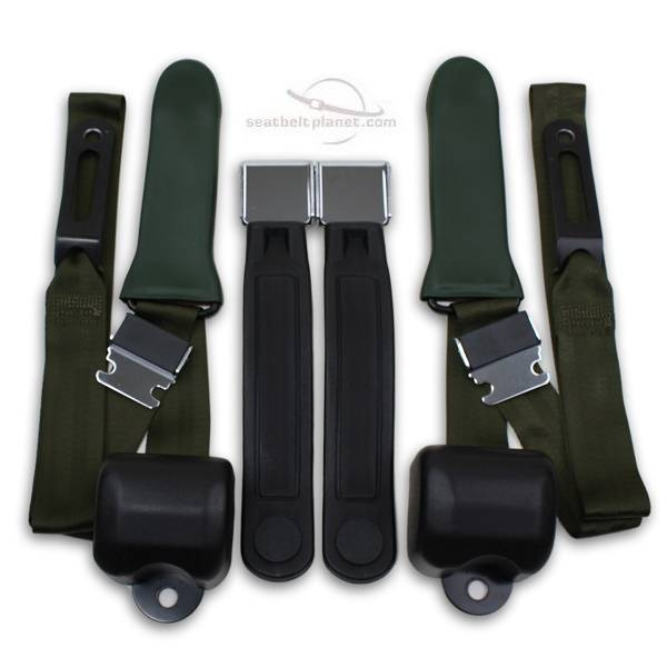 Seatbelt Planet - 1964-67 Chrysler Valiant Driver & Passenger Seat Belt Conversion Kit