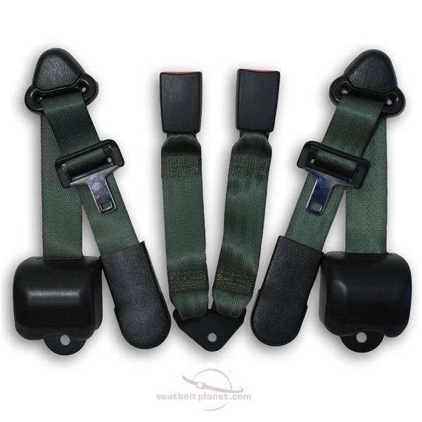 Seatbelt Planet - 1997-2006 Jeep Wrangler Rear Seat Belt Kit