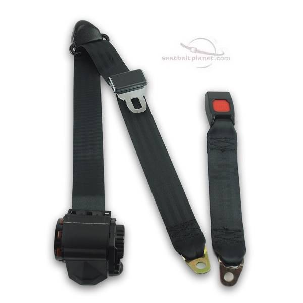 Seatbelt Planet - 1981-84 Toyota Landcruiser FJ60 Rear Plastic Push Button Seat Belt