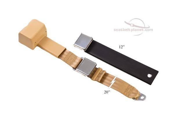 2-Point Lap Retractable Seat Belt Lift Latch Buckle