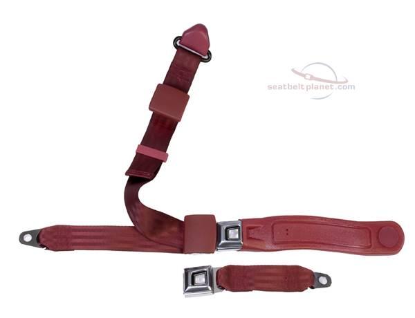 Seatbelt Planet - 3-Point Lap/Shoulder Seat Belt All Metal Starburst or GM Logo Buckle
