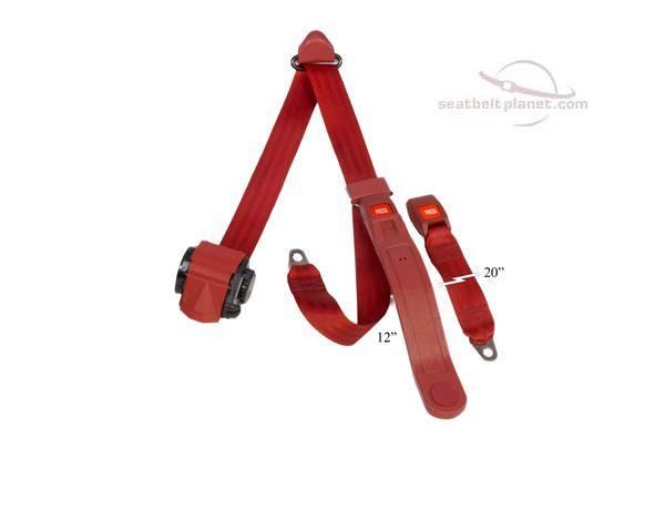 Seatbelt Planet - 3-Point Lap/Shoulder Retractable Seat Belt Push Button Buckle