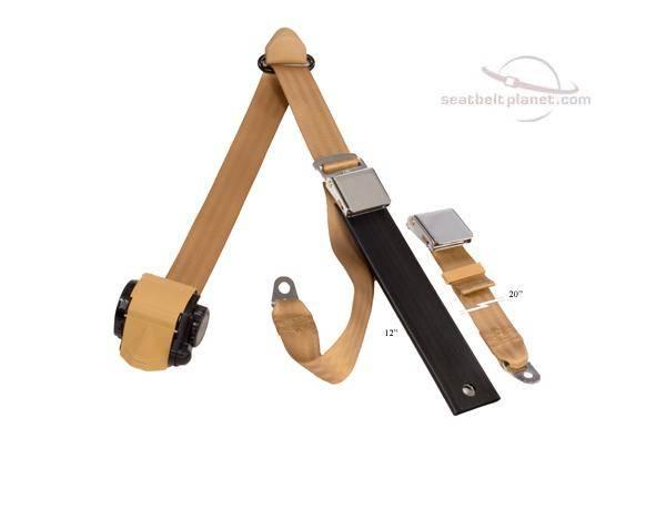Seatbelt Planet - 3-Point Lap/Shoulder Retractable Seat Belt Lift Latch Buckle