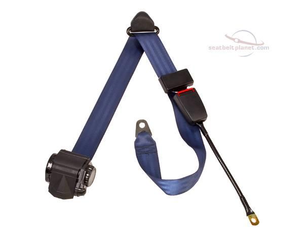Seatbelt Planet - 3-Point Lap/Shoulder Retractable Seat Belt End Release Cable or Bracket Buckle