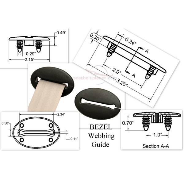 Seatbelt Planet - Webbing Guide - Bezel