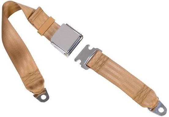 2 Pt Non-Retractable Lap Belts