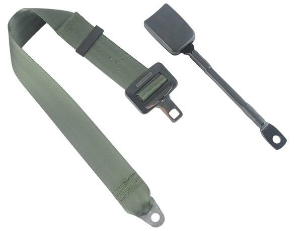 2-Point Lap Seat Belt End Release Cable or Bracket Buckle