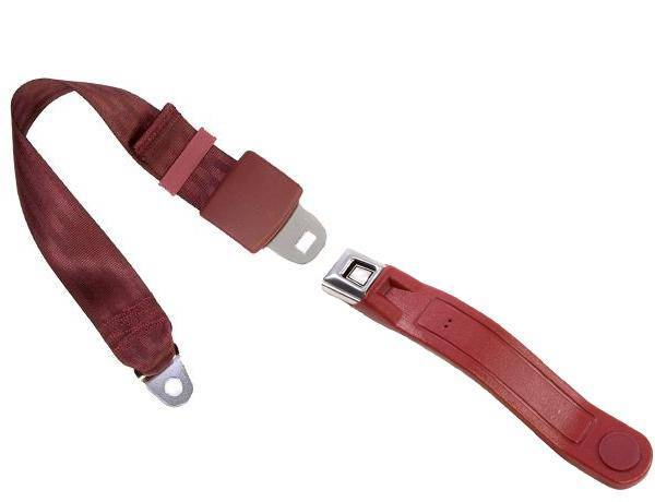 2-Point Lap Seat Belt All Metal Starburst or GM Logo Buckle