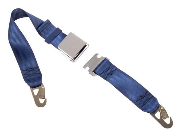 2-Point Lap Seat Belt Lift Latch Buckle & Snap Hook Anchors