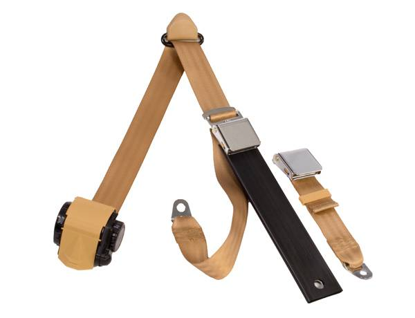 3-Point Lap/Shoulder Retractable Seat Belt Lift Latch Buckle