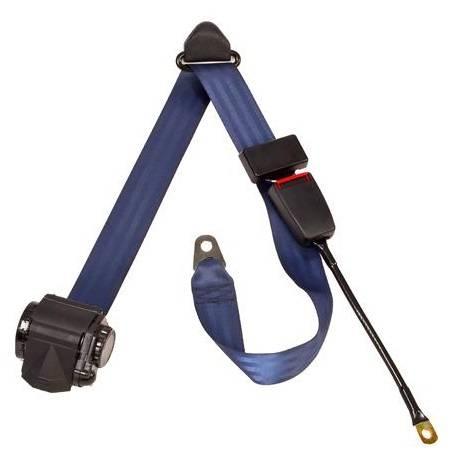 3-Point Lap/Shoulder Retractable Seat Belt End Release Cable or Bracket Buckle