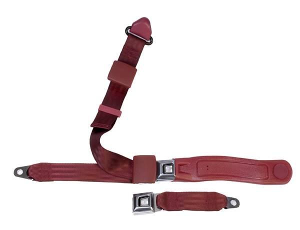 3-Point Lap/Shoulder Seat Belt All Metal Starburst or GM Logo Buckle
