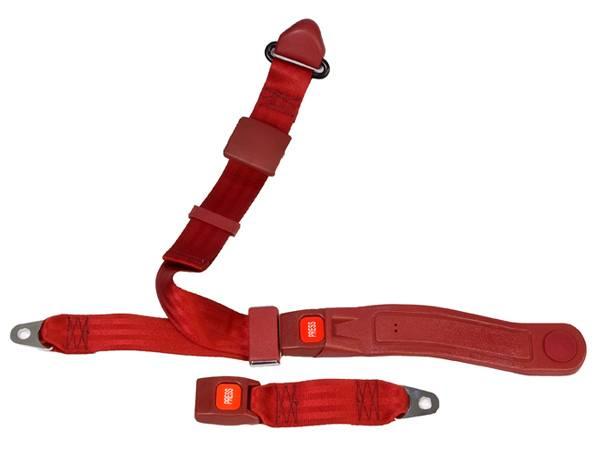 3-Point Lap/Shoulder Seat Belt Push Button Buckle