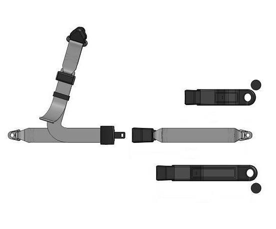 3-Point Lap/Shoulder Seat Belt End Release Buckle