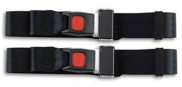 1967-1969 MG TC, Driver & Passenger Seat Belt Kit