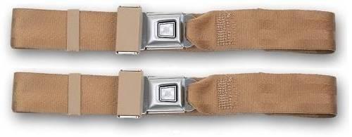 1967-1969 MG TD, Driver & Passenger Seat Belt Kit
