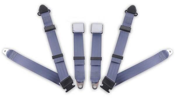 1962-1980 MG B, Driver & Passenger Seat Belt Kit - Bolt Down Anchors