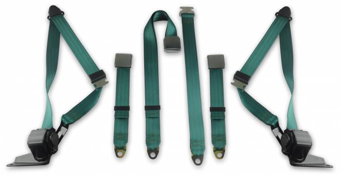1968-1972 Chevy Pickup, Driver, Passenger, & Center, Bench Seat Belt Kit - with Gas Tank