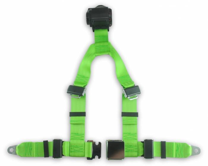 4-point Retractable Y Harness with Lift Latch Buckle