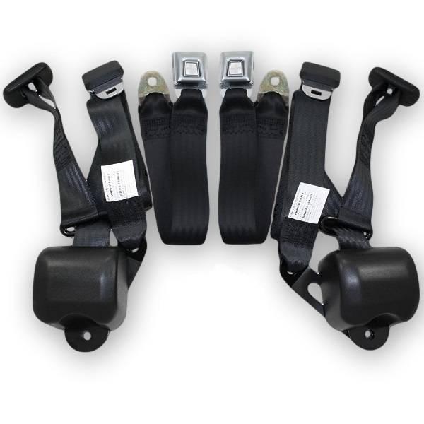 1966-1967 Chevy Chevelle Bench Seat Retractable Lap & Shoulder Conversion Seat Belt Kit