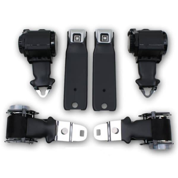 1974-1975 Chevy Corvette Convertible GM Buckle Type 2A Retractable Lap & Shoulder Seat Belt Kit