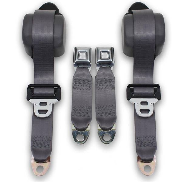1990-1993 Ford Mustang Fox Body Coupe Front Retractable Lap & Shoulder Seat Belt Kit