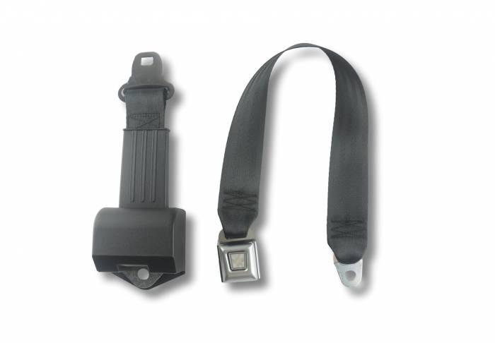 Seatbelt Planet - 1955-1957 Tri-Five Bench Seat Belt - All Metal Buckle