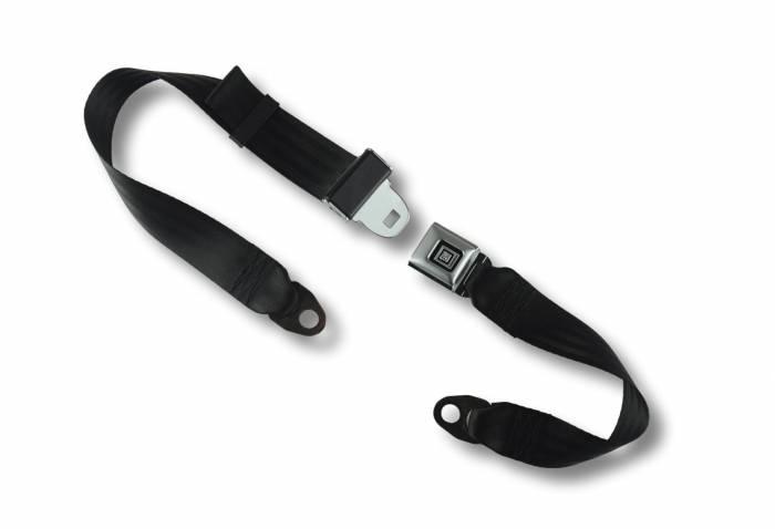 Seatbelt Planet - 2-Point Lap Seat Belt All Metal GM Logo Buckle