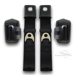 Ford - Bronco - Seatbelt Planet - 1968-1977 Ford Bronco Retractable Lap Seat Belt Kit