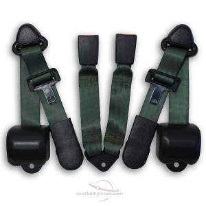 Jeep - Wrangler - Seatbelt Planet - 1997-2006 Jeep Wrangler Rear Seat Belt Kit