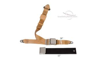 MG - TC - Seatbelt Planet - 1936-1955 MG-TC/TD/TF, Lift Latch Buckle, Lap & Shoulder Seat Belt
