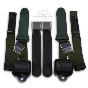 Plymouth - Barracuda - Seatbelt Planet - 1964-67 Plymouth Barracuda Driver & Passenger Seat Belt Conversion Kit