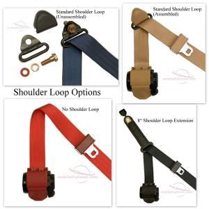 Seatbelt Planet - 3-Point Lap/Shoulder Retractable Seat Belt All Metal Starburst or GM Logo Buckle - Image 2