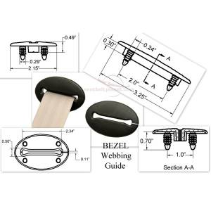 Accessories - Sleeves & Plastics - Seatbelt Planet - Webbing Guide - Bezel