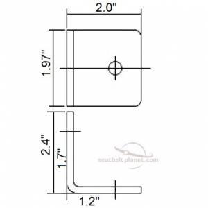 L Bracket dimensions