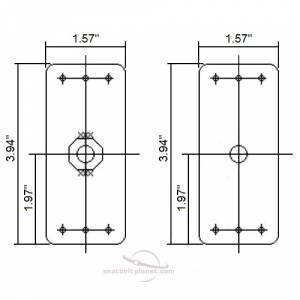Threaded Mounting Plates dimensions