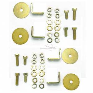 1973-1987 GMC Pickup, Standard Cab, Driver, Passenger & Center, Bench Seat Belt Kit Hardware