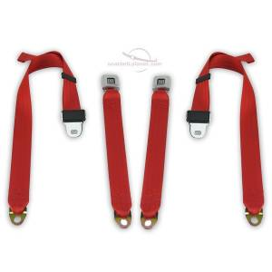 Chevy - Impala - Seatbelt Planet - 1967-1973 Chevy Impala, Rear Driver & Passenger Seat Belt Kit