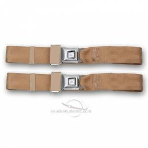 MG - TC - Seatbelt Planet - 1967-1969 MG TC, Driver & Passenger Seat Belt Kit
