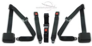 Toyota - 4Runner  - Seatbelt Planet - 1983-1988 Toyota 4Runner, Standard Cab, Driver, Passenger & Center, Bench Seat Belt Kit