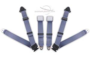 MG - MGB - Seatbelt Planet - 1962-1980 MG B, Driver & Passenger Seat Belt Kit - Bolt Down Anchors