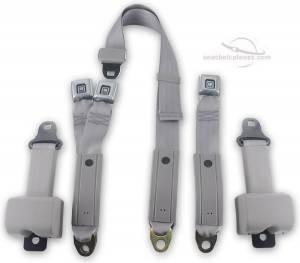 Chevy - Suburban - Seatbelt Planet - 1977-1987 Chevy Suburban, 2nd Row Driver, Passenger & Center Seat Belt Kit