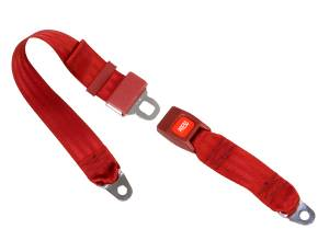 Shop by Seat Belt Type - 2 Point Non-Retractable Lap Belts - Seatbelt Planet - 2-Point Lap Seat Belt Push Button Buckle