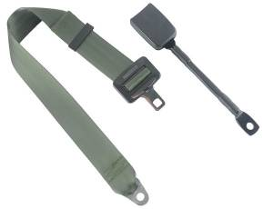 Shop by Seat Belt Type - 2 Point Non-Retractable Lap Belts - Seatbelt Planet - 2-Point Lap Seat Belt End Release Cable or Bracket Buckle
