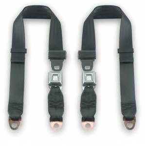 Seatbelt Planet - 1969-1973 Ford Maverick, Rear Driver & Passenger Seat Belt Kit