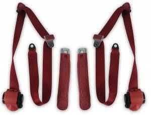 Seatbelt Planet - 1973-1987 GMC Pickup, Standard Cab, Driver & Passenger, Bucket Seat Belt Kit