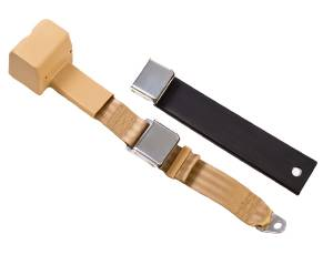 Shop by Seat Belt Type - 2 Point Retractable Lap Belts - Seatbelt Planet - 2-Point Lap Retractable Seat Belt Lift Latch Buckle