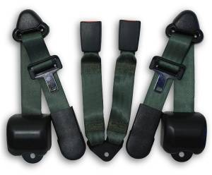 Seatbelt Planet - 1997-2006 Jeep Wrangler Rear Seat Belt Kit